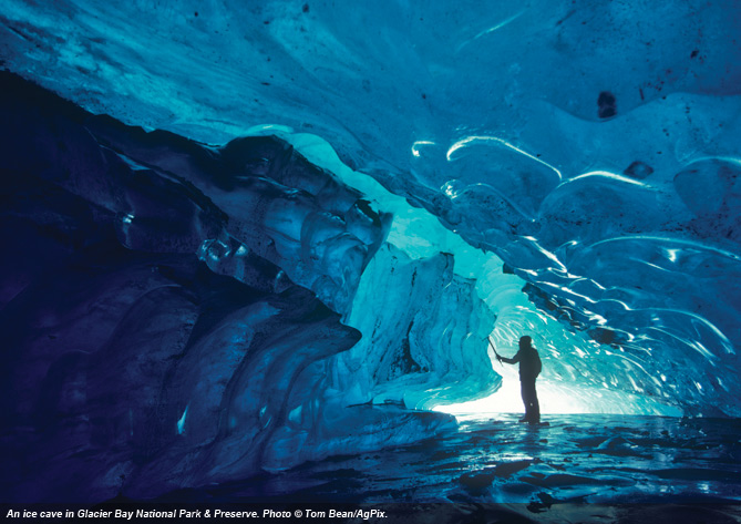 An ice cave in Glacier Bay National Park & Preserve