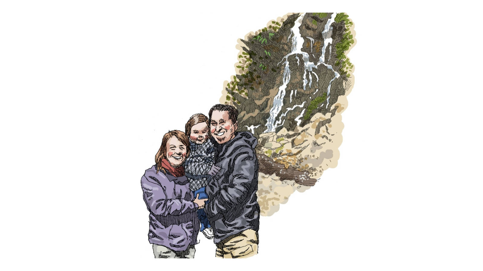 <p>This family drove all the way from Minnesota just to see Cataract Falls.Okay, they were on their way to Atlanta, but they couldn't resist an opportunity to drive through Great Smoky Mountains National Park.</p>