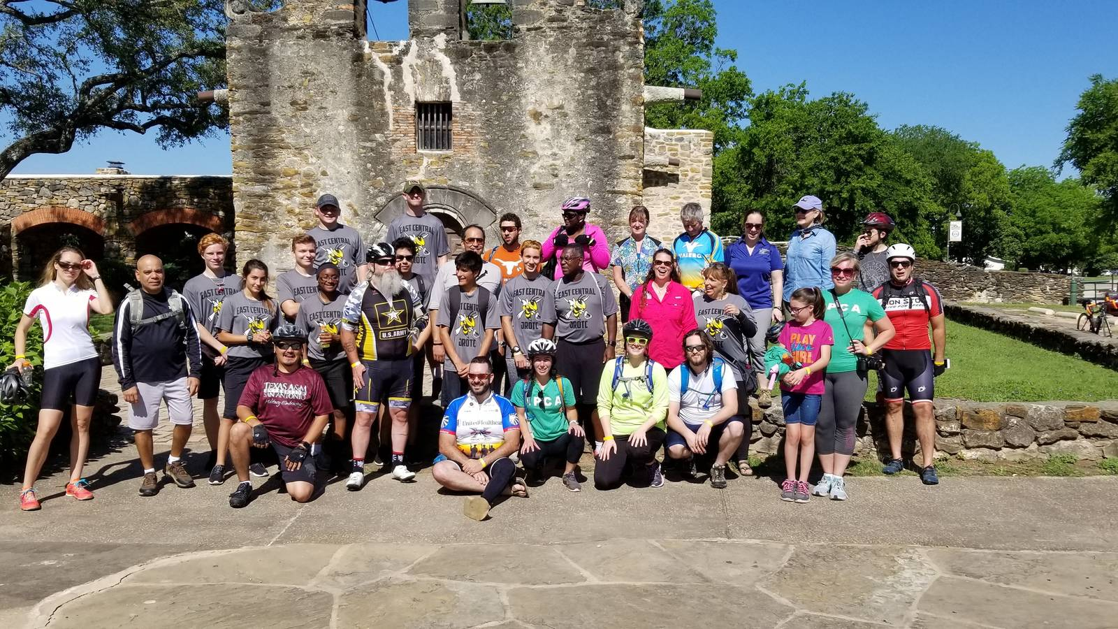<p>NPCA holds annual biking events in Texas for the veteran community. This 2018 ride took place at San Antonio Missions National Historical Park.</p>