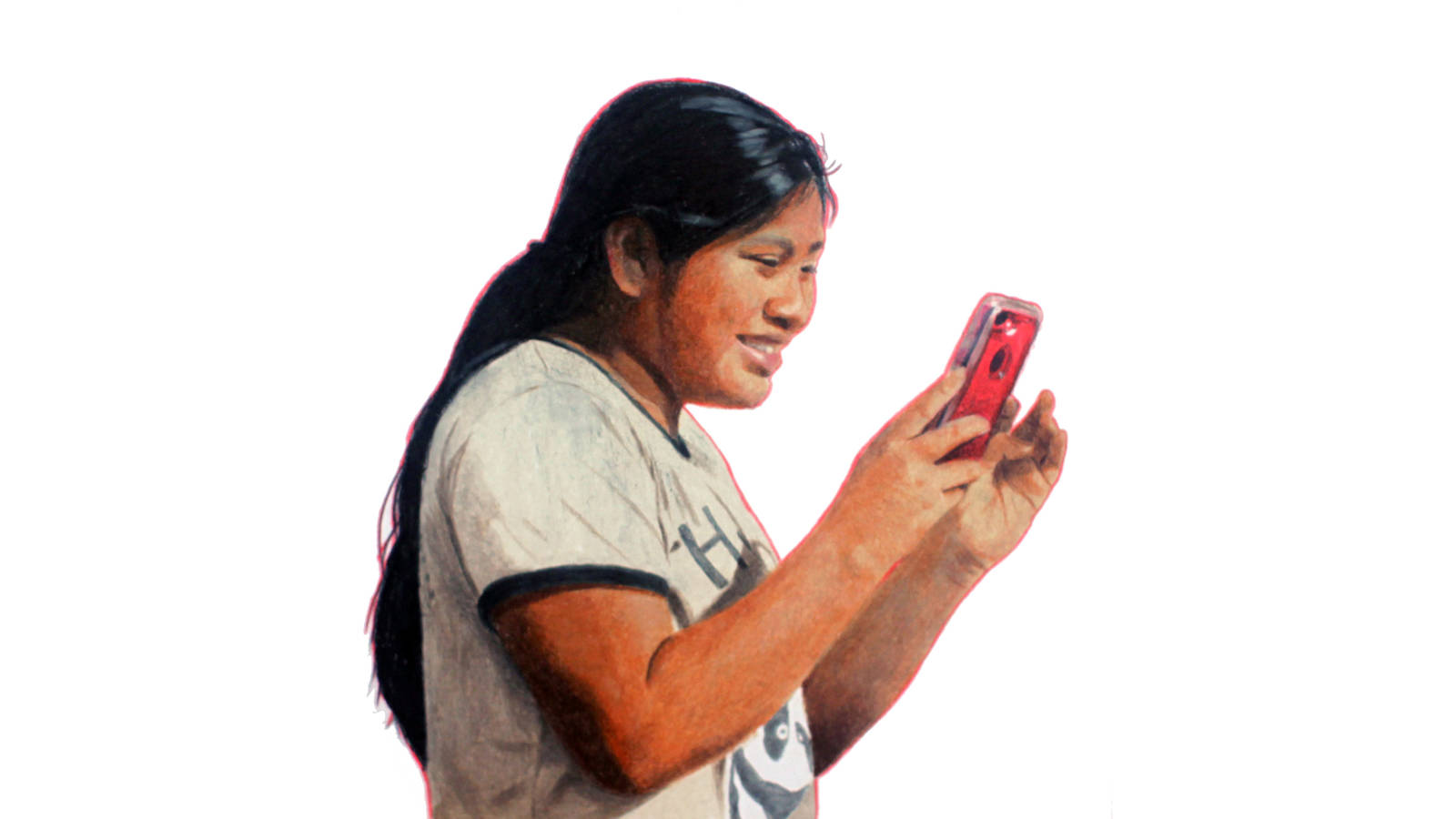 """<h3 style=""""text-align: center; padding: 50px;""""><span class=""""text-Intro-style"""">A visitor at Big Cypress National Preserve in Florida. Colored pencil on paper, 2020.</span></h3>"""