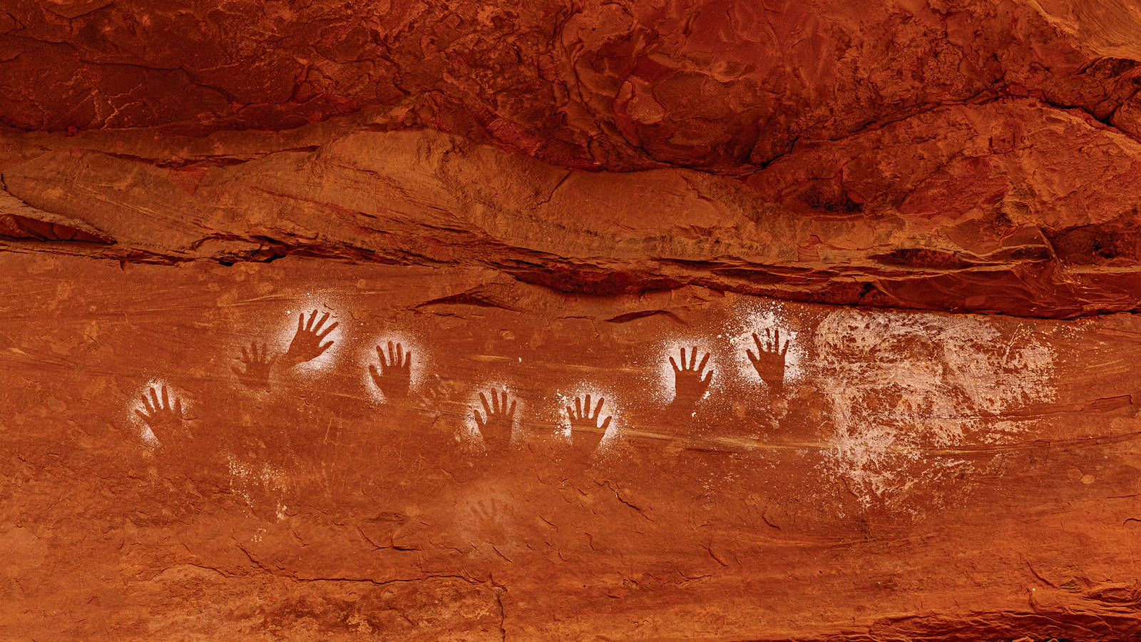 """<h3 style=""""text-align: center; padding: 50px;""""><span class=""""text-Intro-style"""">These painted outlines of human hands are in an area of Bears Ears that the Trump administration removed from the monument — illegally, according to NPCA. """"I love handprints because they're so personal,"""" Alvarez said. """"I think of them as self-portraits ... Even looking at them on the screen, I can't resist <br />holding my hand up to see how my hand compares."""" © STEPHEN ALVAREZ</span></h3>"""