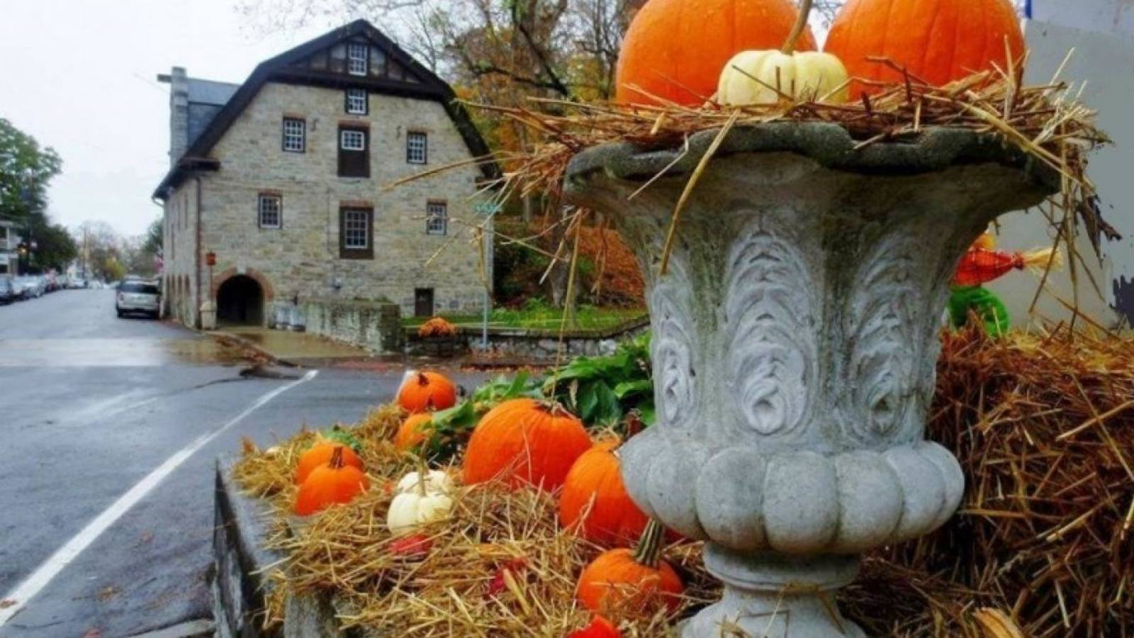 <p>Historic Blairstown Village decorated for Fall Fest.</p>