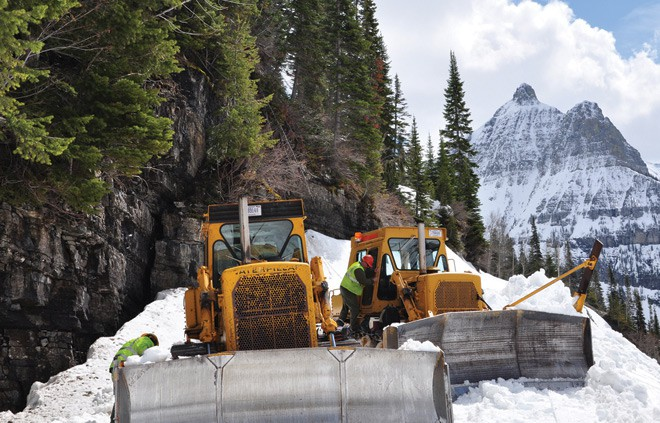 May plowing at Glacier National Park. National Park Service photo.