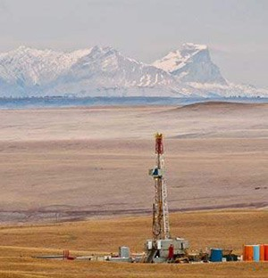 A fracking well on Blackfeet land near Glacier NP