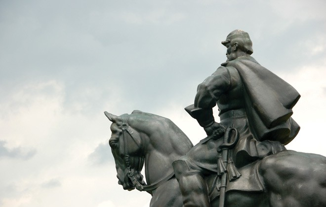 Stonewall Jackson statue at Manassas National Battlefield Park