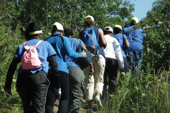 The women of GirlTrek hiking