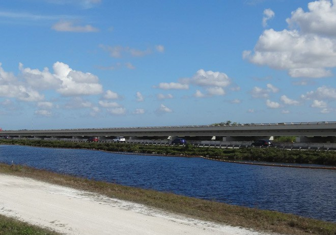 The first mile of the Tamiami Trail elevated bridge