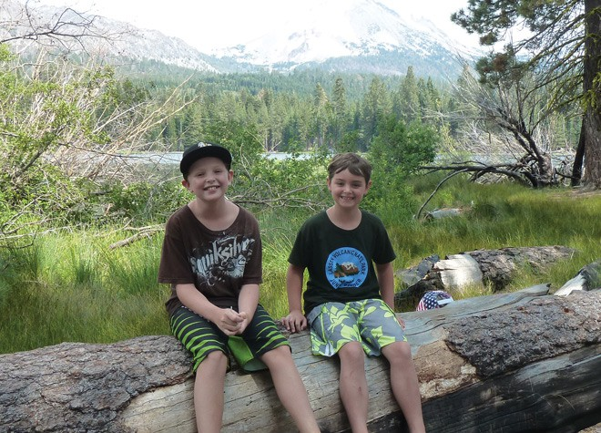 Brothers Owen and Zach Brunner at Lassen Volcanic National Park