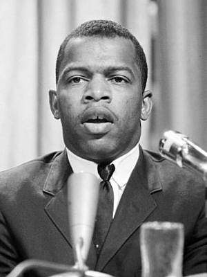 Civil rights activist and future member of Congress John Lewis at meeting of American Society of Newspaper Editors, April 1964.