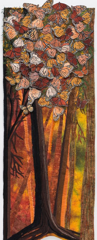 """Wings"" by Melani K. Brewer from the Piecing Together a Changing Planet Exhibit."