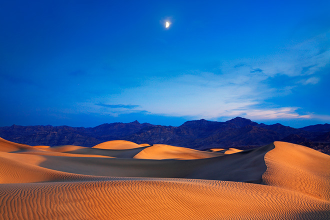 Sand dunes at Death Valley National Park, California and Nevada.