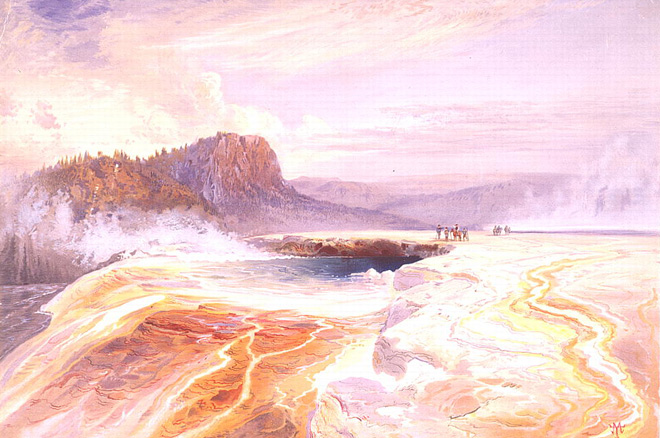 The Great Blue Spring of the Lower Geyser Basin, Yellowstone, by Thomas Moran/Library of Congress.