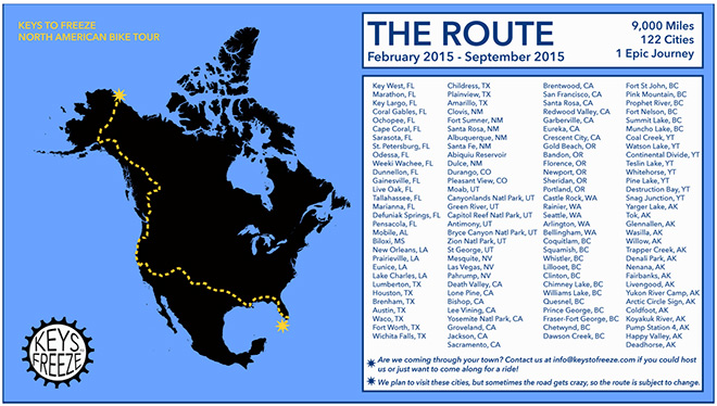 Prudhoe Bay Alaska Map.Keys To Freeze 6 Friends To Cycle Cross Continent For A Cause