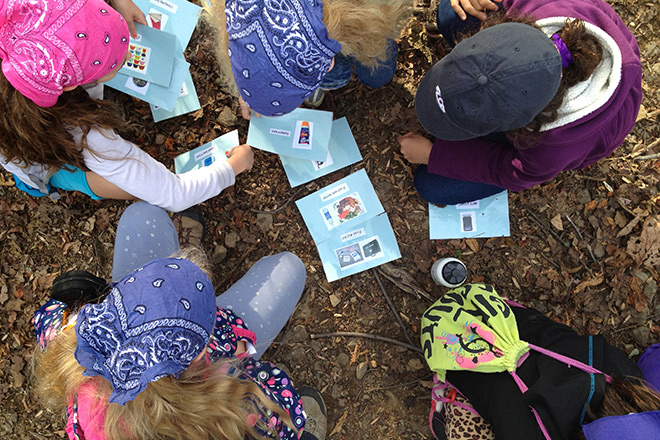"Kids take part in activities to learn to ""leave no trace."""