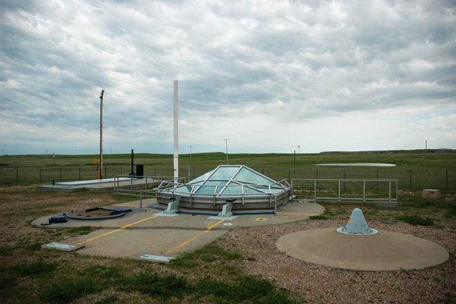 An above-ground view of the missile silo at Minuteman Missile National Historic Site in South Dakota. National Park Service photo.