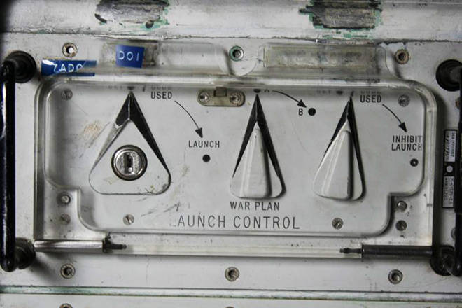 The key insert panel that could have ended life as we know it, at the Minuteman Missile launch facility. National Park Service photo.