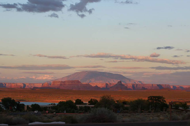 Navajo Mountain at Sunset.