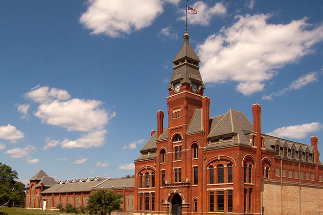 The historic Pullman administration building.
