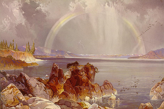Yellowstone Lake by Thomas Moran/Library of Congress.