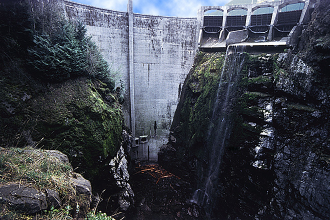 The Glines Canyon Dam before the removal project.